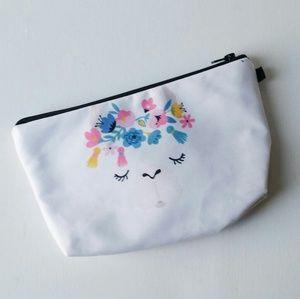 Handbags - Llama with floral crown make up bag